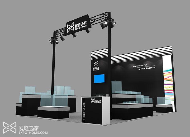 木结构防火板展台 通用性展台设计风格极简又时尚 产品展示为主 54