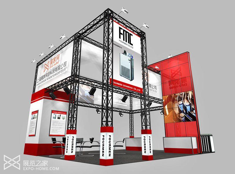 绗架结构展台设计 工程工业机械展会
