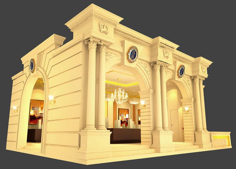 古典欧式展台设计模型