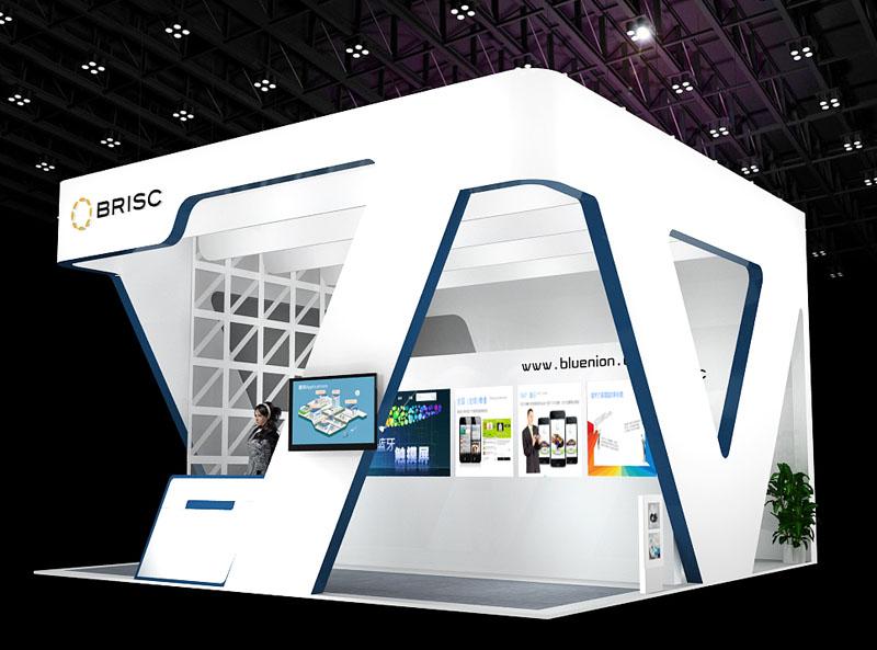 电子设备展 展台设计模型 36平米 三面开